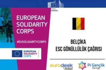 Pi Gençlik Derneği: ESC Belçika Gönüllülük Projesi Katılımcı Çağrısı