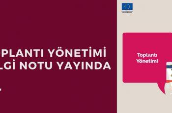 STGM Uzmanlarından 'Toplantı Yönetimi Bilgi Notu'