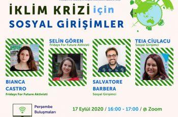 Yılın Son TSGA Perşembe Buluşması: İklim Krizi ve Sosyal Girişimcilik