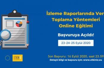 ETKİNİZ'den İzleme Raporlarında Veri Toplama Yöntemleri Online Eğitimi