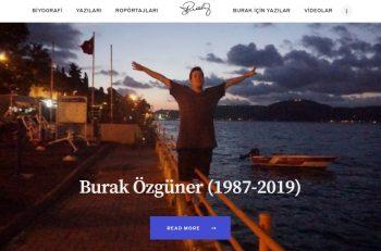 Burak Özgüner Anısına Web Sitesi