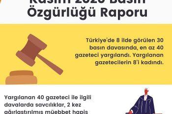 """Basın Özgürlüğü Raporu: """"Yargılamada Aleniyet İlkesinin İhlali Öne Çıkıyor"""""""