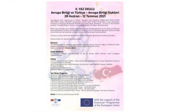 Avrupa Birliği ve Türkiye – Avrupa Birliği İlişkileri Yaz Okulu Başlıyor