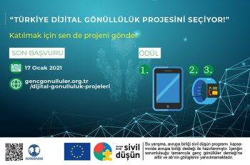 Dijital Gönüllülük Projesi Yarışması Katılımcılarını Bekliyor