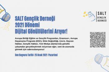 SALT Gençlik Derneği Dijital Gönüllülerini Arıyor!