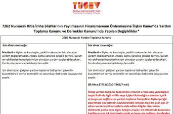 TÜSEV Dernekler Kanunu'ndaki Değişiklikleri Tablolaştırdı