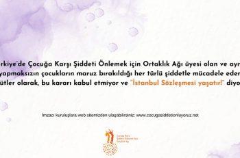 """""""İstanbul Sözleşmesi Çocuklar ve Gençler İçin de Önemlidir!"""""""