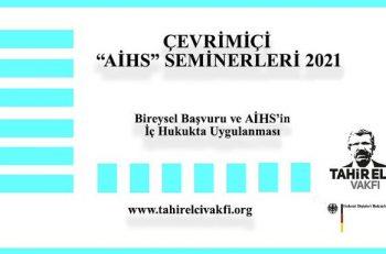 """Tahir Elçi Vakfı Çevrimiçi """"AİHS"""" Seminerleri Düzenliyor"""