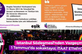 Kadın ve LGBTİ+ Örgütleri 10. Yaşında İstanbul Sözleşmesi'ni Birlikte Savunuyor