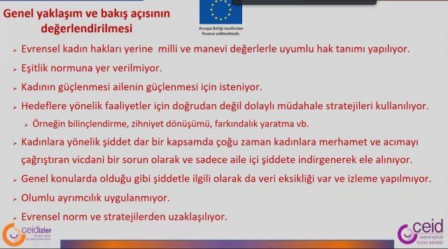 'Türkiye Toplumsal Cinsiyet Eşitliğinde Evrensel Norm ve Stratejilerden Giderek Daha Çok Uzaklaşılıyor'