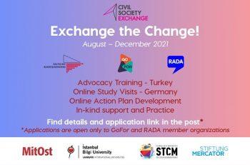 'Go-For Exchange the Change' Proje Başvurularınızı Bekliyor