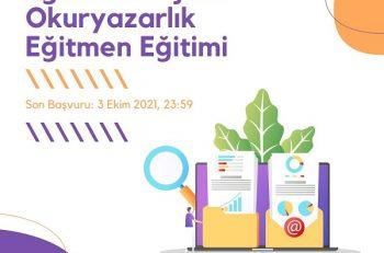 Eğitimde Dijital Okuryazarlık Projesi Eğitmen Eğitimi Katılımcılarını Arıyor!
