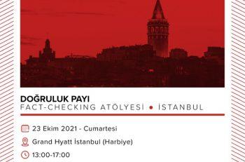 Doğruluk Payı Fact-Checking Atölyesi İstanbul'da